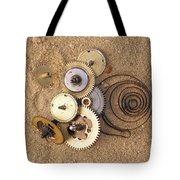 Clockwork Mechanism On The Sand Tote Bag