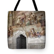Cloister Fresco Tote Bag by Joan Carroll