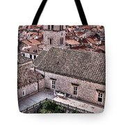 Cloistered Garden And Tower In The White City Tote Bag