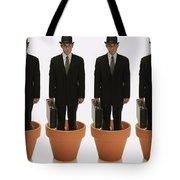 Clones Of Man In Business Suit Standing Tote Bag by Darren Greenwood