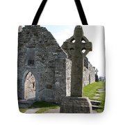 Clonmacnoise Cathedral  And High Cross Ireland Tote Bag