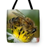 Close Encounter Of The Bee Kind Tote Bag