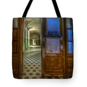 Close The Door Tote Bag