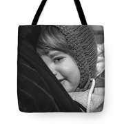 Close To My Daddy Monochrome Tote Bag