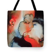 Close Up Kiss Tote Bag