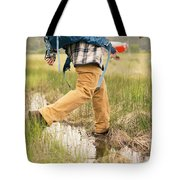 Close-up Of A Male Hiker Tote Bag
