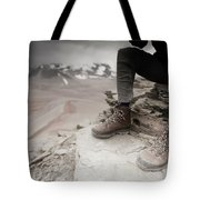 Close Up Of A Mountaineers Windblown Tote Bag