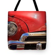 Close Up Of A Red Chevrolet Tote Bag