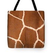 Close-up Of A Reticulated Giraffe Tote Bag