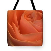 Close Up Of A Rose Bud Tote Bag