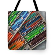 Close-up Of Color Pencils, Ishoj Tote Bag