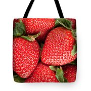 Close Up Of Delicious Strawberries Tote Bag