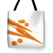 Close-up Of Fresh Carrots Tote Bag