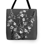 Close Up Of Gentian Speedwell Flowers Tote Bag