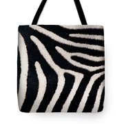 Close-up Of Greveys Zebra Stripes Tote Bag