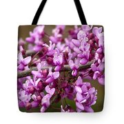 Close-up Of Redbud Tree Blossoms Tote Bag