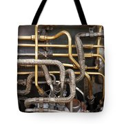 Close-up Of Tangled Pipes Tote Bag
