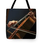 Close Up Of The Cellist's Hands Tote Bag