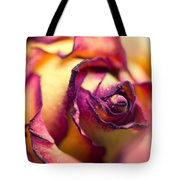 Close Up Of The Dry Rose Tote Bag