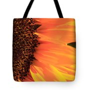 Close Up Of The Florets And Petals Of A Sunflower Tote Bag