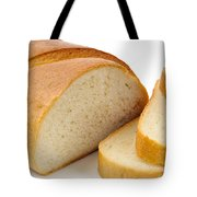 Close-up Of White Bread With Slices Tote Bag
