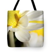 Close Up Of White Daisy Tote Bag