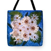 Close Up Of White Daisy Bouquet Tote Bag