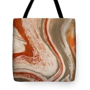 Poured Agate Painting Six Close-up Two Tote Bag