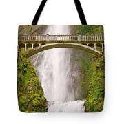 Close Up View Of Multnomah Falls In The Columbia River Gorge Of Oregon Tote Bag