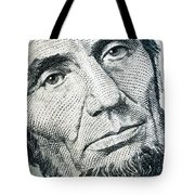 Closeup Of A Five Dollar Bill Tote Bag