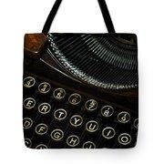 Closeup Of Antique Typewriter Tote Bag
