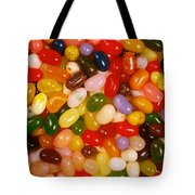 Closeup Of Assorted Jellybeans  Tote Bag