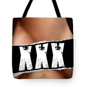 Closeup Of Couple Making Love Xxx Sign Tote Bag
