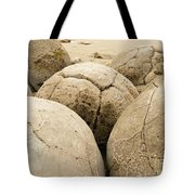 Closeup Of Famous Spherical Moeraki Boulders Nz Tote Bag