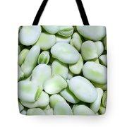 Closeup Of Fresh Fava Beans Tote Bag