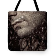 Closeup Of Mans Chin With Stubble Tote Bag