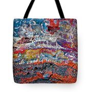 Closeup Of Petrified Wood In Crystal Forest In  Petrified Forest National Park- Arizona  Tote Bag