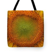 Closeup Of Sunflower Tote Bag