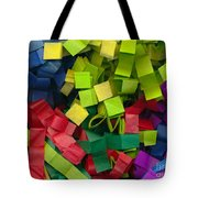 Colorful Cut Tissue Paper Tote Bag
