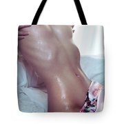 Closeup Of Wet Sexy Woman Body Tote Bag