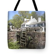 Closing A Lock On The C And O Canal At Great Falls Tavern Tote Bag