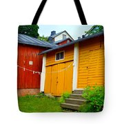 Clothesline In Porvoo In Finland Tote Bag