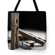 Clothespins Tote Bag by Edward Fielding