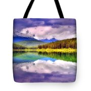 Cloud Cover On Lake Patricia Tote Bag