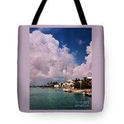 Cloud Faces Over St. George's, Bermuda Tote Bag