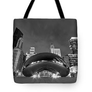 Cloud Gate And Skyline Tote Bag