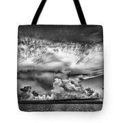Cloud In Black And White Tote Bag