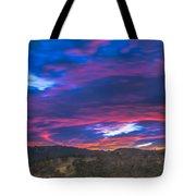 Cloud Movement At Sunset Tote Bag