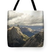 Cloud Over Rugged Mountain Peaks Banff Tote Bag