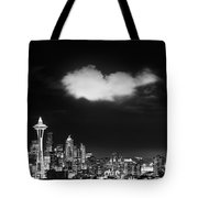 Cloud Over Seattle - Vertical Tote Bag